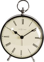 Alarmklok NeXtime 17.5 x 12.5 x 6.5 cm, metaal, zwart, 'Charles'