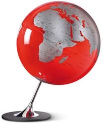 globe Anglo Red 25cm diameter metaal / chrome