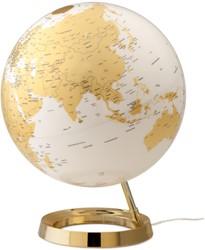 globe Bright Gold diameter 30cm kunststof voet met ver- lichting