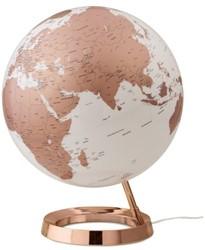 globe Bright Copper 30cm diameter kunststof voet engelstalig