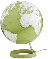 globe Bright Pistachio 30cm diameter kunststof voet met verlichting