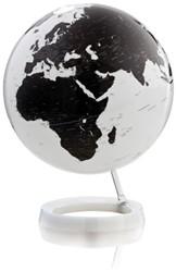 Globe Bright White 30cm diameter kunststof witte voet met verlichting