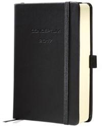 dagagenda Sigel Conceptum A6 2017 hardcover zwart