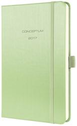 weekagenda Sigel Conceptum A5 2017 hardcover groen metallic