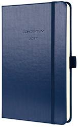 weekagenda Sigel Conceptum A5 2017 hardcover donkerblauw metallic