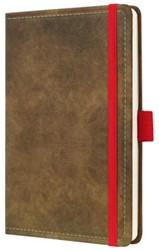 notitieboek Conceptum 194blz hard Vintage Brown 95x150mm gelinieerd
