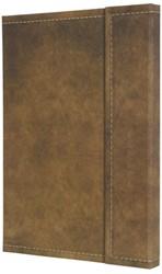 notitieboek Conceptum 194blz hard Vintage Brown 155x203mm geruit
