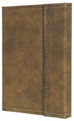 notitieboek Conceptum 194blz hard Vintage Brown 207x280mm geruit