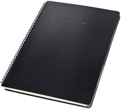 Notitieblok Sigel CONCEPTUM hardcover A4 zwart ruit incl. register