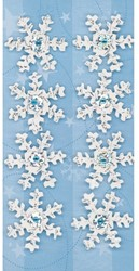 Kerststicker Sigel frozen snowflakes 69x140mm