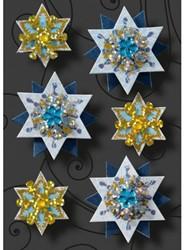 Kerststicker Sigel Sparkling Stars 83x122mm