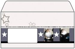 kerstdesignenvelop 90gr 50 st. Clarity 110x220mmm