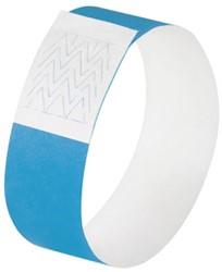 evenementenbandjes Sigel super soft, 255x25mm 120 stuks neon blauw