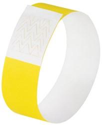 evenementenbandjes Sigel super soft, 255x25mm 120 stuks neon geel