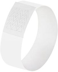 evenementenbandjes Sigel super soft, 255x25mm 120 stuks wit