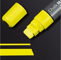 krijtmarker Sigel 5-15mm afwasbaar geel
