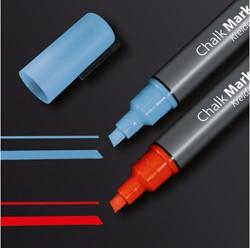 krijtmarker Sigel beitelpunt 1-5mm blauw