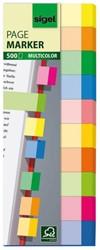 indexeringsstrookjes Sigel Multicolor 10-kleurig 500 vel