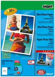 inkjet Ultra fotopapier A4 190grs hoogglans 50 vel