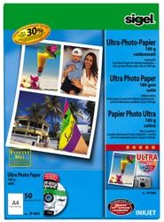 inkjet Ultra fotopapier A4 190gram zijdemat 50 vel