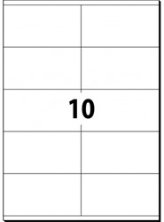 etiket Sigel ILK 105x57mm wit 100 vel 10 etiketten per vel