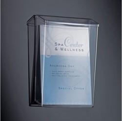 buitenfolderhouder Sigel wandmodel A4 transparant acryl voor