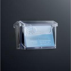 buitenvisitekaarthouder Sigel wandmodel 105x76x45mm transparant acryl