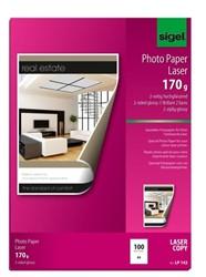 fotopapier Sigel kleurenlaser A4 hoogwit glans 170gr 100 vel