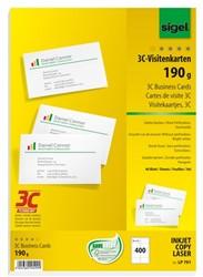 visitekaartjes Sigel 3C 190g wit 400 stuks