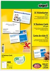visitekaartjes Sigel 3C 225g wit 400 stuks