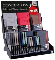 inhoud trapdisplay Conceptum agenda's 2018 Hardcover