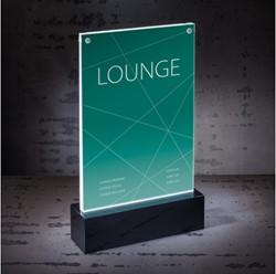 Tafelstandaard Sigel LED verlicht A5 150x250x45