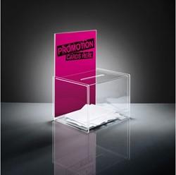 aktiebak Sigel transparant 22x17x30 cm + insteek voor A4