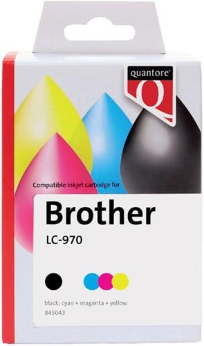 Inktcartridge Quantore Brother LC-970 zwart + 3 kleuren