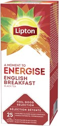 Thee Lipton Energise English Breakfast 25stuks