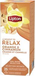 Thee Lipton Relax Sinasappel kaneel 25stuks