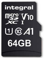 Geheugenkaart Integral Micro SDXC V10 64GB