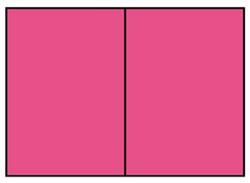 Correspondentiekaart dubbel A6 fuchsia roze
