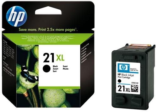 Inktcartridge HP C9351CE 21XL zwart HC