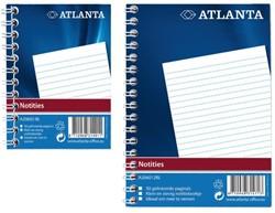 Notitieboek Atlanta A6 gelineerd 100blz met zijspiraal