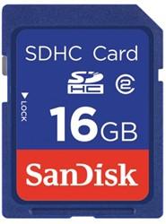 GEHEUGENKAART SANDISK SDHC 16GB CL4 1 STUK