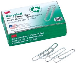 Paperclip Oic 30mm rond recycled 100stuks