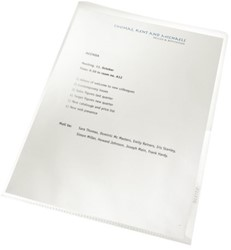Insteekmap L-model Leitz 4001 A4 PVC 0.15mm transparant