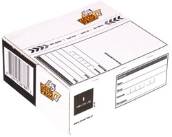 Postpakketbox 1 CleverPack 146x131x56mm wit 25stuks
