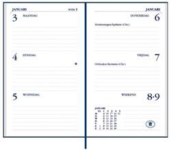 Agenda 2018 Ryam Memoplan 7 staand Plus Croco assorti