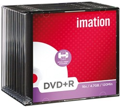 DVD+R IMATION 4.7GB 16X PRINTABLE SLIMLINE 10 STUK