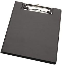 Kassablokhouder LPC A5 karton met klem + penlus zwart