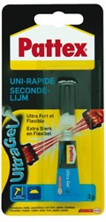 Secondelijm Pattex ultra gel tube 3gram op blister