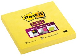 Memoblok 3M Post-it 654-S Super Sticky 76x76mm ultra geel
