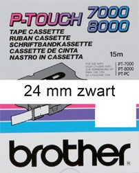 Labeltape Brother P-touch TX251 24mm zwart op wit